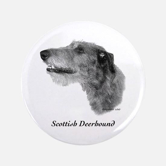 """Scottish Deerhound 3.5"""" Button"""