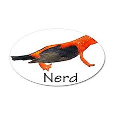 Newt + Bird = Nerd 38.5 x 24.5 Oval Wall Peel