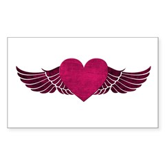 Heart with Wings Decal