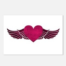 Heart with Wings Postcards (Package of 8)