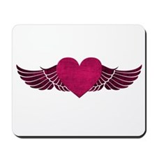 Heart with Wings Mousepad