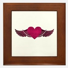 Heart with Wings Framed Tile