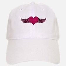 Heart with Wings Baseball Baseball Cap