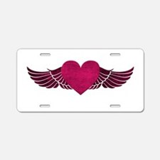Heart with Wings Aluminum License Plate