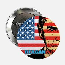 "Reagan - Flag face 2.25"" Button (10 pack)"
