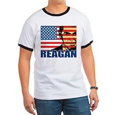 Reagan - Flag face T