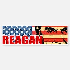 Reagan - Flag face Bumper Bumper Bumper Sticker
