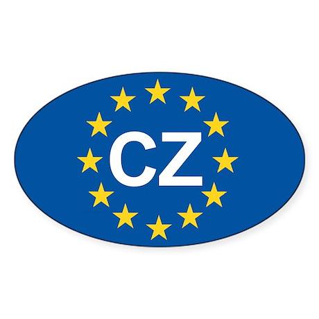 Czech Republic EU Sticker (Oval)