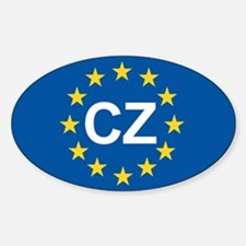 Czech Republic EU Sticker (Oval)