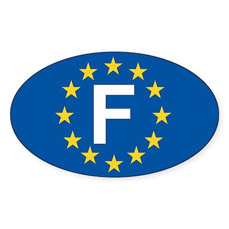 France EU Sticker (Oval)
