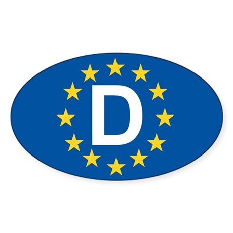 Germany EU Sticker (Oval)