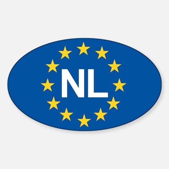 Holland NL EU Sticker (Oval)