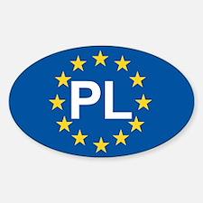 Poland EU Sticker (Oval)