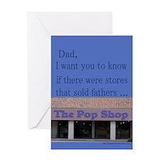 For Dad/Pop Shop Birthday Greeting Card