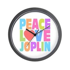 Peace Love Joplin Wall Clock