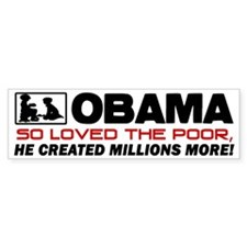 """So Loved The Poor"" Bumper Sticker"