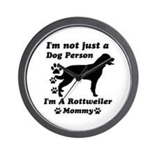 Rottweller mommy Wall Clock