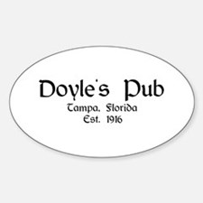 """Doyle's Pub - Black Label"" Oval Decal"