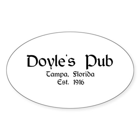 """Doyle's Pub - Black Label"" Oval Sticker"