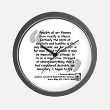 White Try Quote Wall Clock