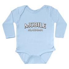 Mobile Alabama Long Sleeve Infant Bodysuit