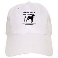 Miniture pinscher mommy Baseball Cap