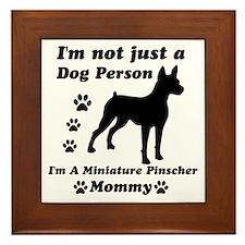 Miniture pinscher mommy Framed Tile