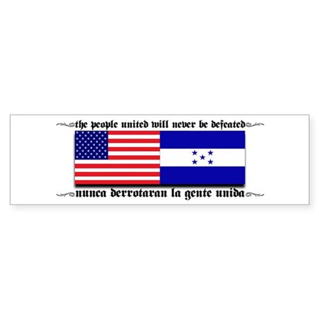 USA - Honduras Unite! Bumper Sticker