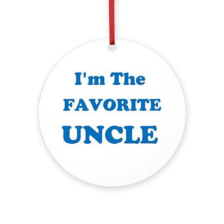 Favorite Uncle Ornament (Round)