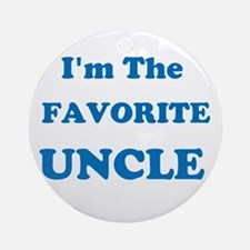 Favorite Uncle Ornament (Round)