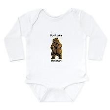 Cute Poke the bear Long Sleeve Infant Bodysuit