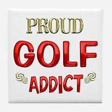 Golf Addict Tile Coaster