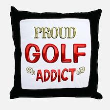 Golf Addict Throw Pillow