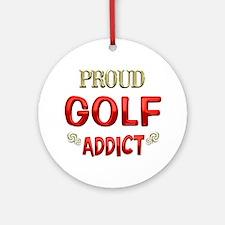 Golf Addict Ornament (Round)