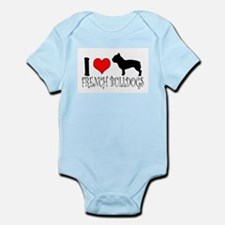 I Heart/Love French Bulldogs Infant Bodysuit