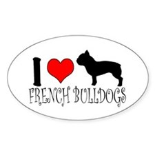 I Heart/Love French Bulldogs Decal