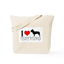 I Heart/Love French Bulldogs Tote Bag
