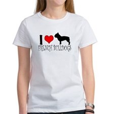 I Heart/Love French Bulldogs Tee