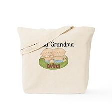 Proud Grandma Twins Tote Bag