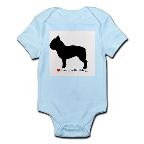 French Bulldog Silhouette Infant Bodysuit