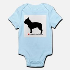 French Bulldog Silhouette Infant Bodysuit