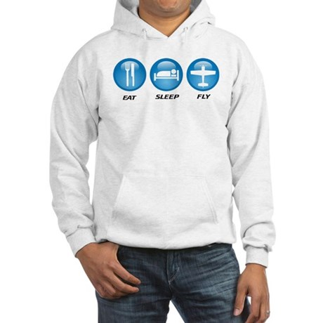 Eat Sleep Fly II Hooded Sweatshirt