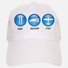 Eat Sleep Fly II Baseball Baseball Cap