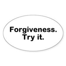 Forgiveness Oval Decal