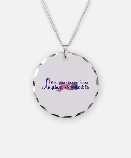 Choose Hope Necklace Circle Charm