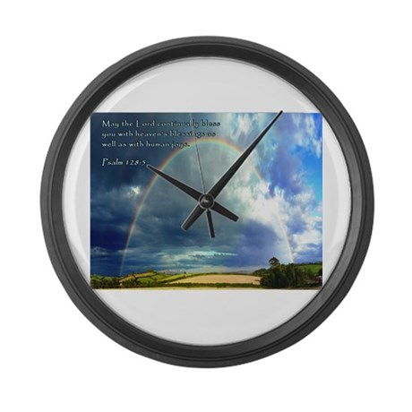 Psalm 128:5 Large Wall Clock