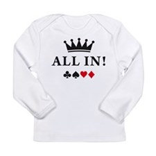 Funny Texas hold Long Sleeve Infant T-Shirt