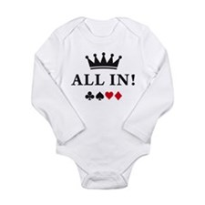 Unique Diamonds Long Sleeve Infant Bodysuit