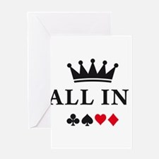 Cute Ace of hearts Greeting Card