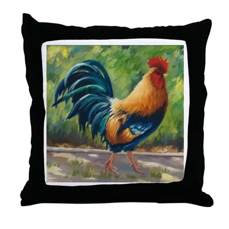 El Rojo (The Red One) Throw Pillow